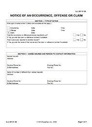 claim notice form